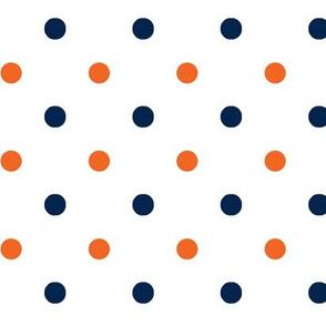 Navy and orange team color _White_Dot