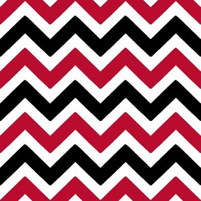 Red and black team color chevron