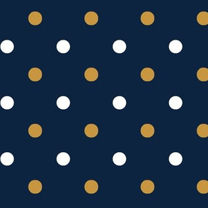 Blue and gold Team color Dot