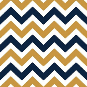 Blue and gold Team color Chevron