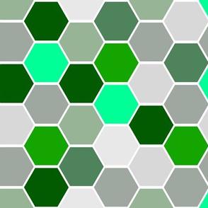 Green Hexagons