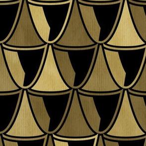 gold art deco glasses