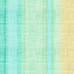 Doll Beach Stripe vertical faux linen in aqua