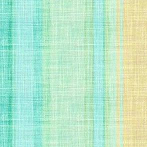 Doll Beach Stripe vertical faux linen in aqua