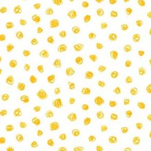 yellow crayon polkadots