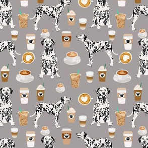 dalmatians coffee fabric cute black and white dog fabric cute coffee latte fabric best dalmatian design
