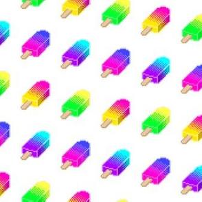 Pixel Popsicles - White