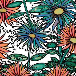 Summer Botanical-white b/ground