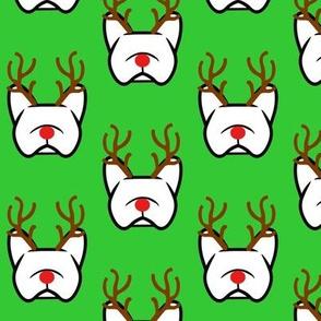 French Bulldogs - reindeer in flight!