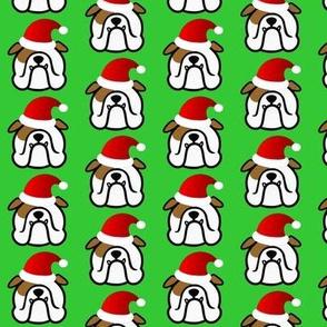 English Bulldog Santa - have a Bully good season