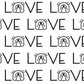 English Bulldog LOVE - sweet Bully fabric by Smooshface United
