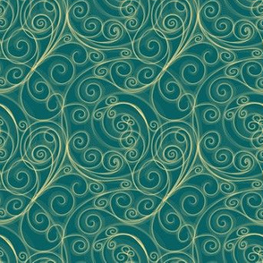 Project 51 |  Goldn Swirls on Green/Teal
