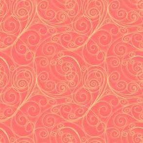 Project 51 | Golden Swirls on Peach