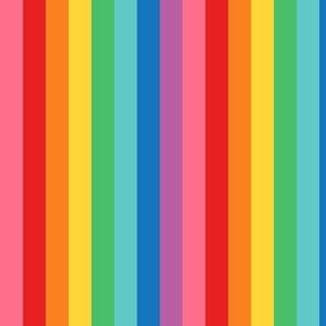 XL rainbow stripes 2 vertical