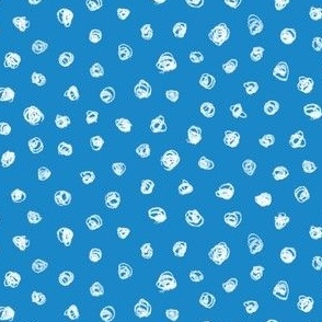 chalk polkadots on butterfly blue