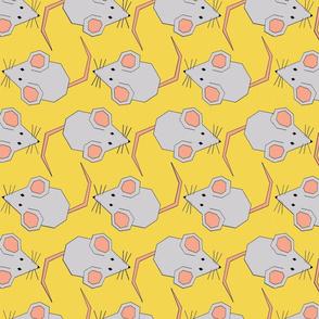 Walking Mice on Yellow