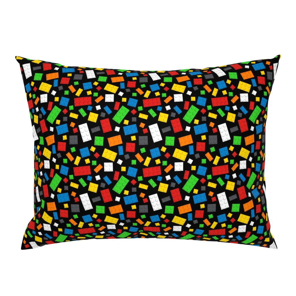 Campine Pillow Sham featuring Building Brick Scatter by designedbygeeks