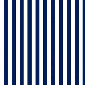 Navy Vertical Stripes