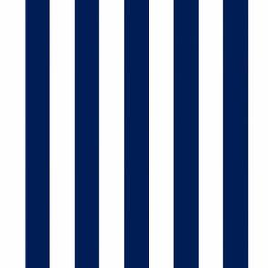 Big Navy Vertical Stripes