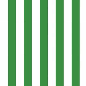 Big Green Vertical Stripes