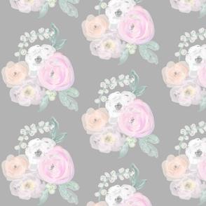 Pastel Bouquet on Grey
