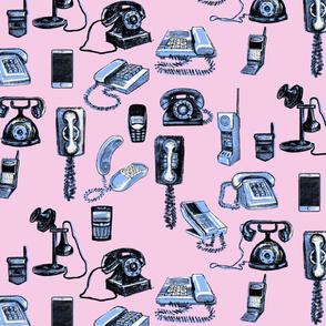 Phones phones phones rose & blue
