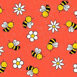 busy bees - red