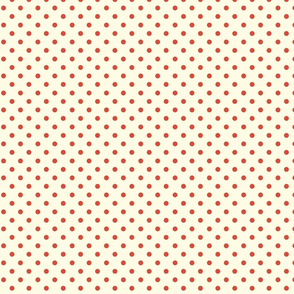 Polka Dot Lucy's Red and Cream (Tiny)