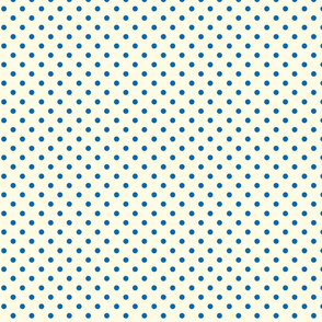 Polka Dot Lucy's Blue and Cream (Tiny)
