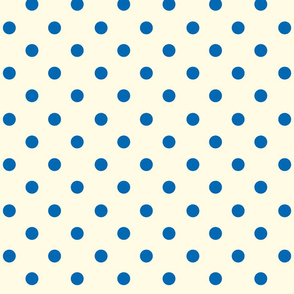 Polka Dot Lucy's Blue and Cream (Large)