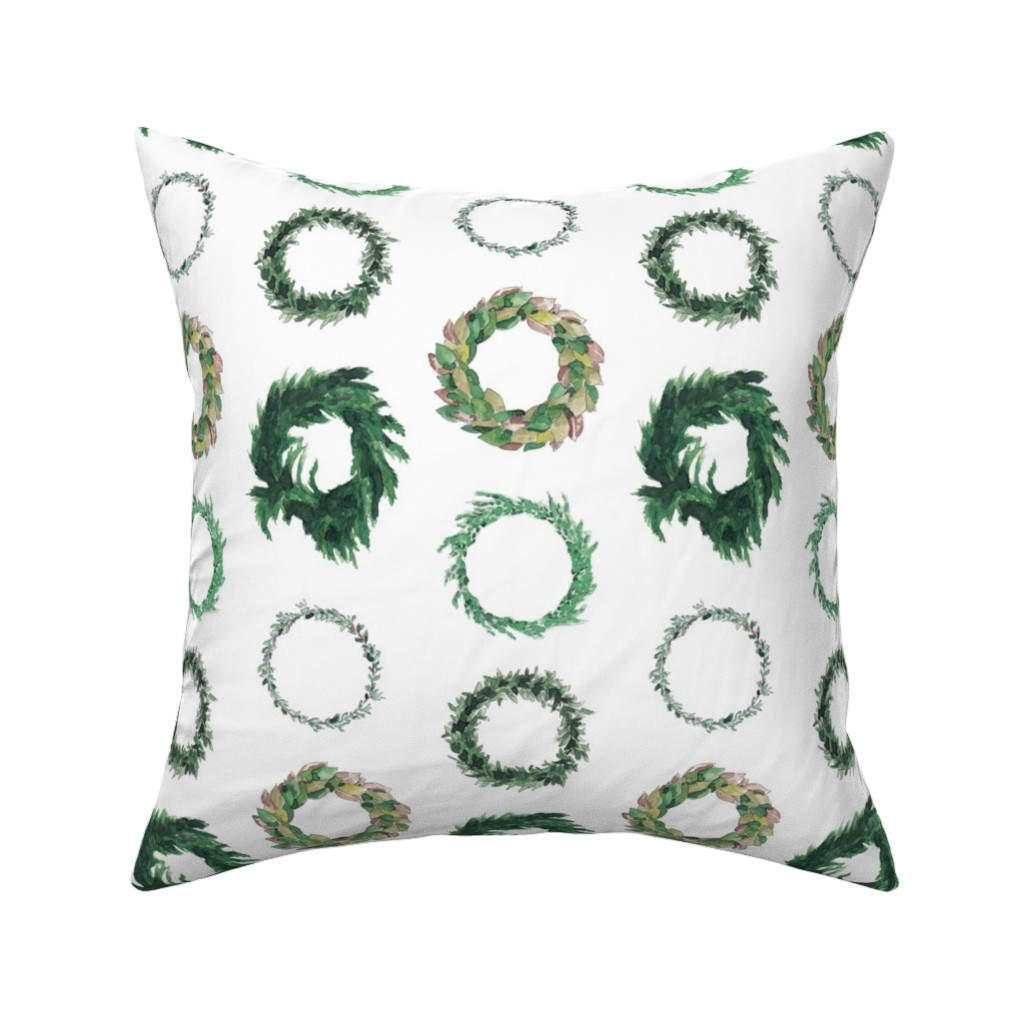 Catalan Throw Pillow featuring Wreaths by chelseaprestondesigns