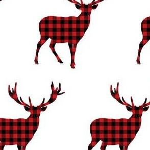 Plaid Deer in Black & Red