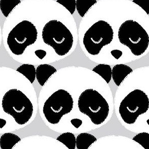 Panda Faces Gray