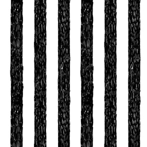 Burtons Vertical Stripes - black and white