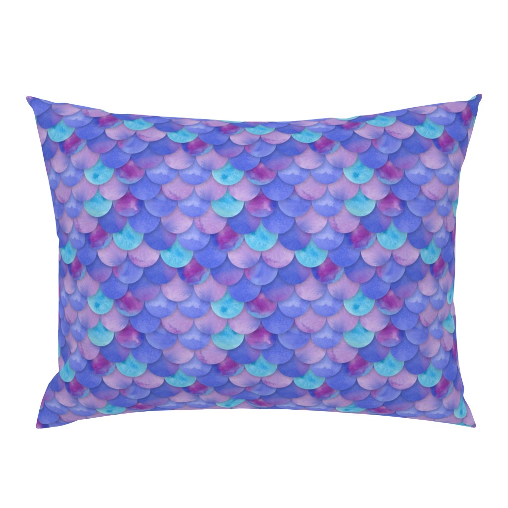 Campine Pillow Sham featuring Purple Mermaid Scales by washburnart