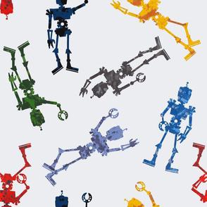 Galaxy Robots Large- Planet, Space, Ufo, Alien, Robotics, Rocket