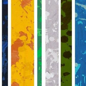 Cosmos Stripe - Space, Superhero, Comic, Distressed, Striped