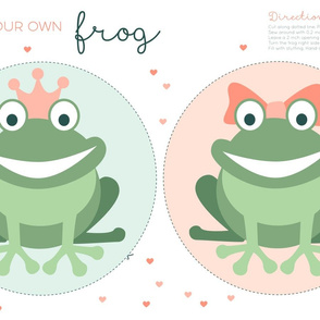frogs cut and sew