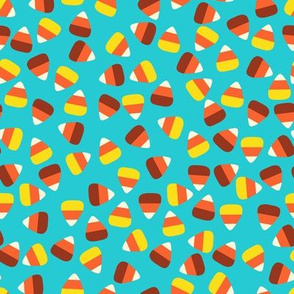 Candy Corn Coordinate-Turquoise