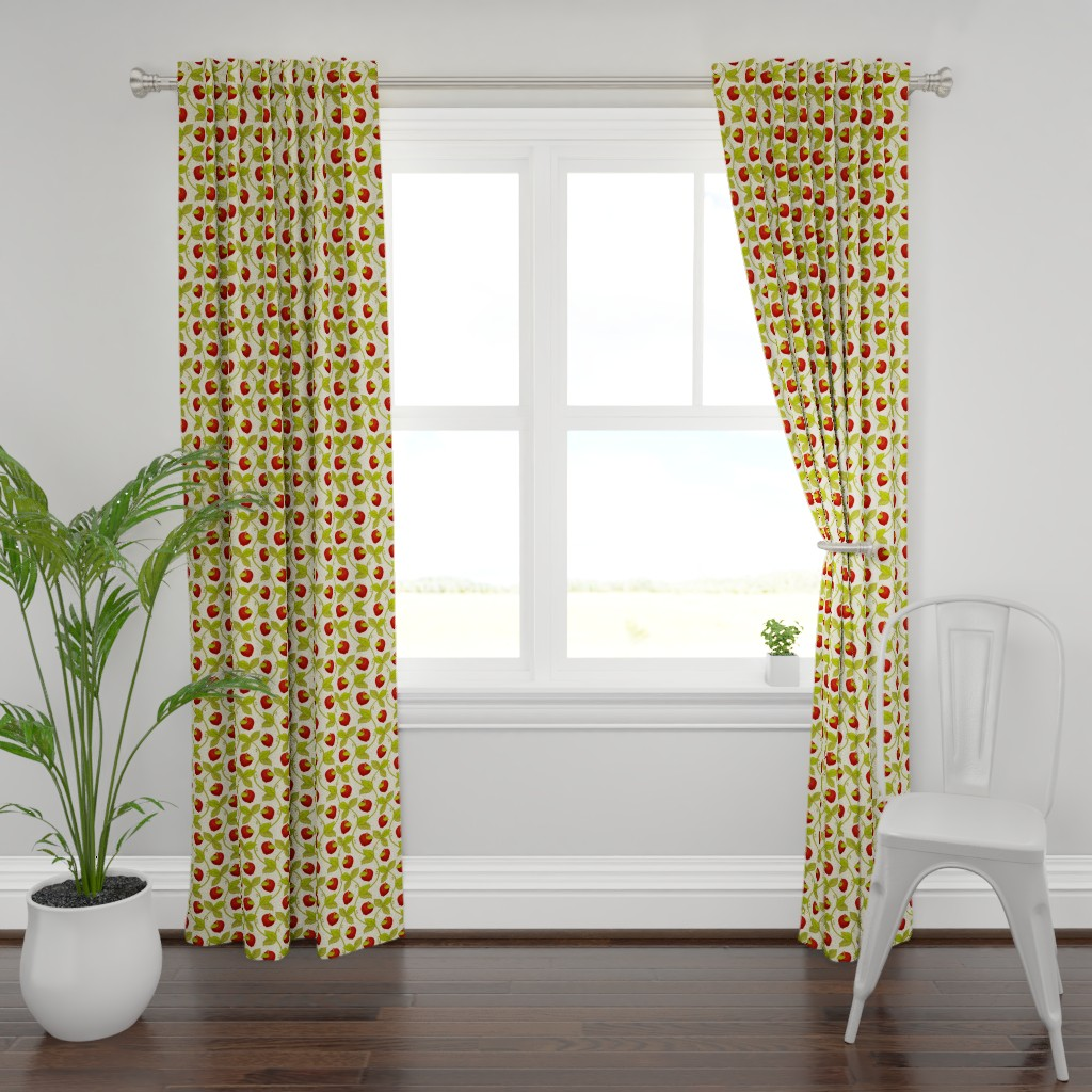 Plymouth Curtain Panel featuring Once upon an Apple: 200%size by mia_valdez