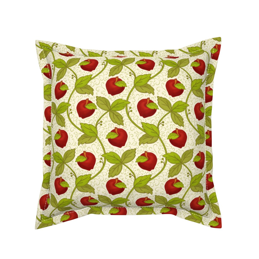 Serama Throw Pillow featuring Once upon an Apple: 200%size by mia_valdez