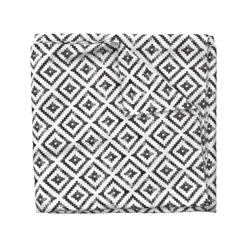 Wyandotte Duvet Cover featuring aztec distressed by littlearrowdesign