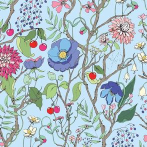 Botanical Sketchbook Blue