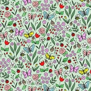 Mini Garden Floral Green