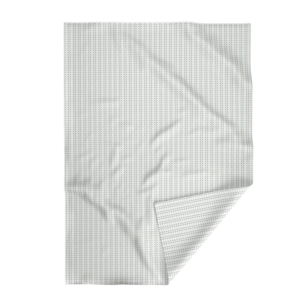 Lakenvelder Throw Blanket featuring Geometric Triangles, gray green by cindylindgren