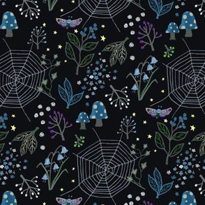 Night garden - dark background