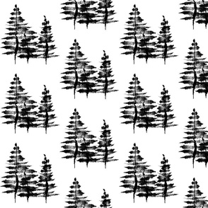 Ink Sketch Trees / Black and White