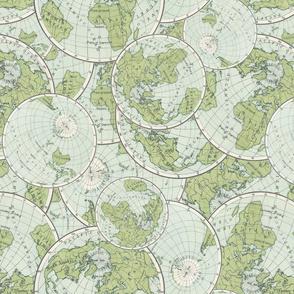 World Map Cartography Vintage Globe United States America