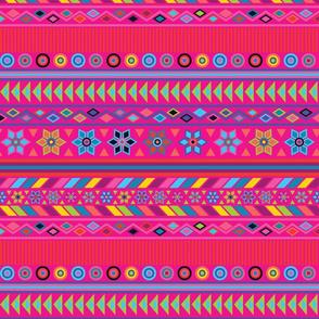 Peruvian Stripe Hot Pink