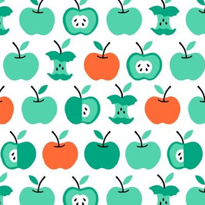 Back to school apples green